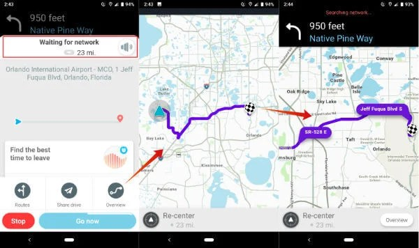 Waze offline Map Android