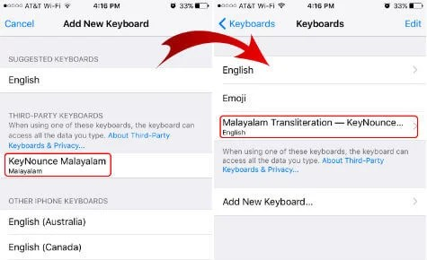 how to change keyboard language on iphone