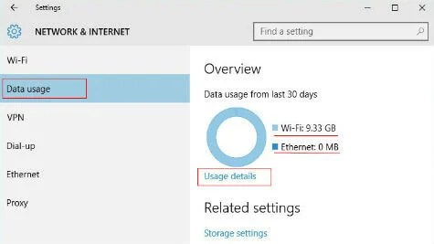 windows 10 data usage