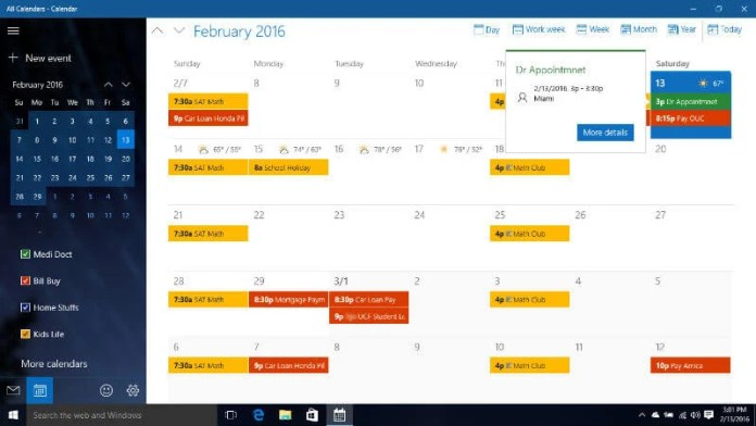 Calendario Windows 10 Su Desktop.How To Sync Icloud With Windows10 Calendar In Real Time