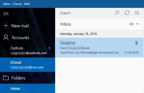 in addition to outlook account windows 10 email client can direct import accounts like hotmail livecom hotmail msn google and icloud without much