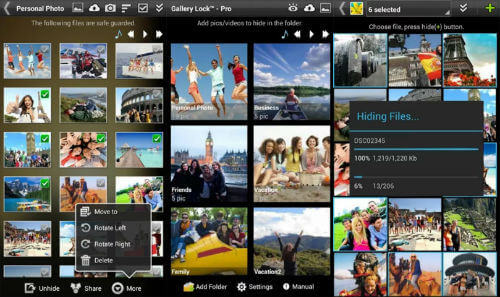 Gallery Lock android app