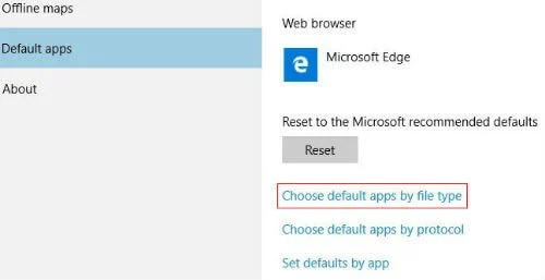 change default apps windows10