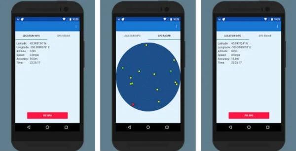 GPS fix - GPS Test