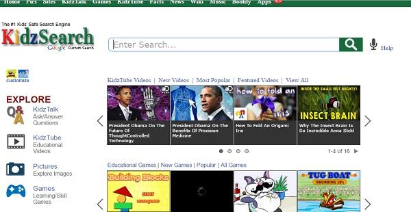 kidzsearch أفضل وأمن محركات بحث للاطفال