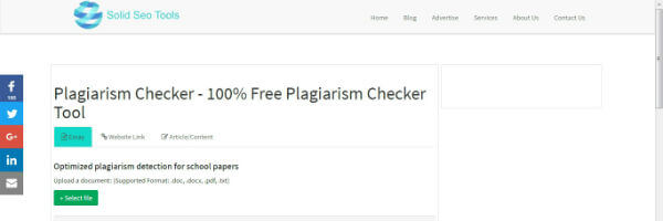 free reliable plagiarism checker