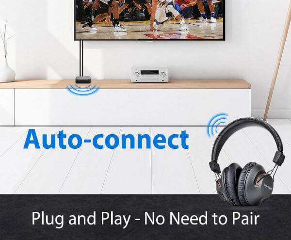 Avantree HT4189 Wireless TV Headphone