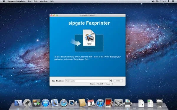 how to send a fax online mac