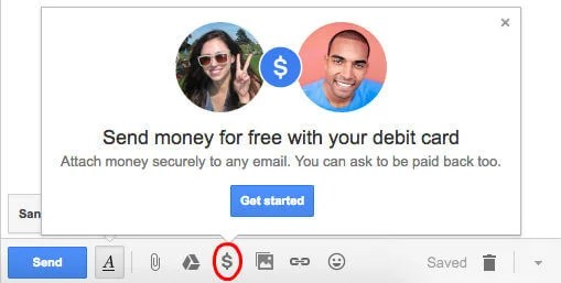 gmail send money online