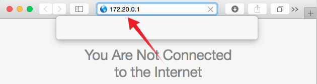 Hotspot Router IP to Safari
