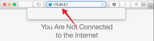 Hotspot Router IP to Safari
