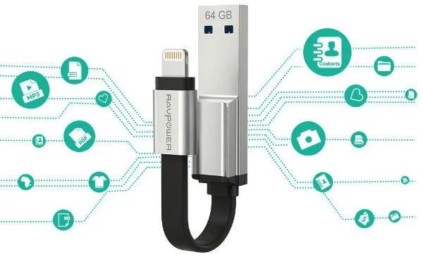 RAVPower iPhone Flash Drive Photo Stick