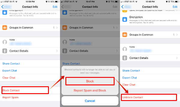 Block WhatsApp Calls Messages