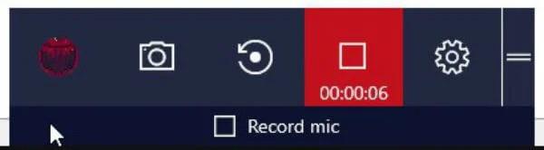 Game Bar Stop button