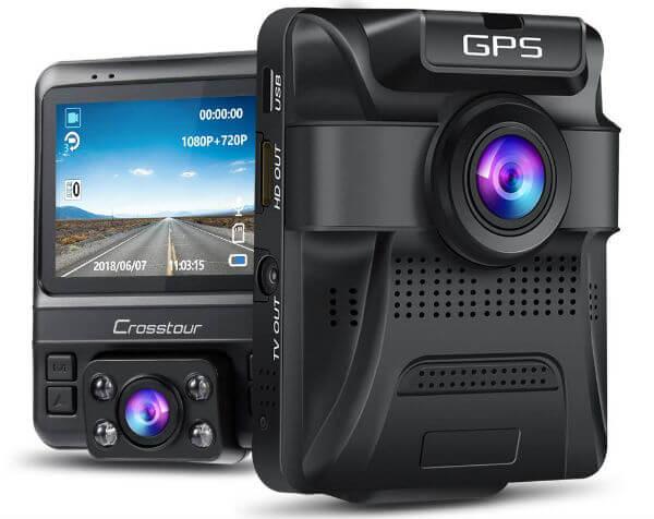 Crosstour Uber Dual Lens Dash Cam