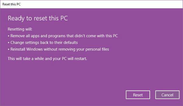 Reset PC Wizard