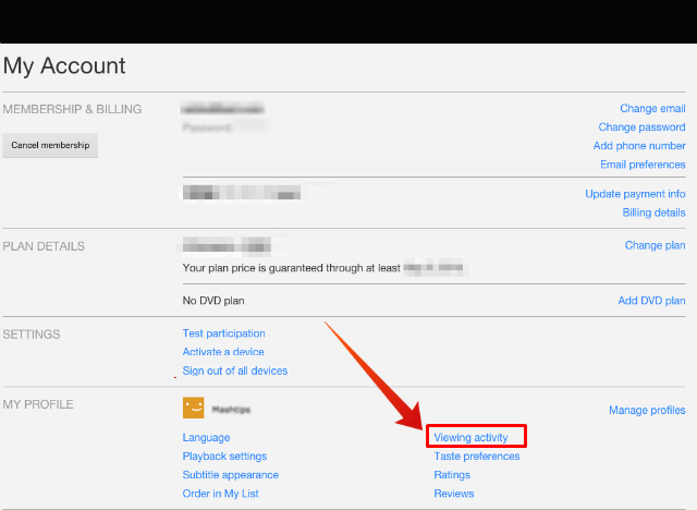 How to get Netflix Viewing Activity IP and Devices? | Mashtips
