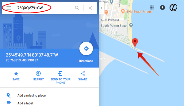 Find Plus Codes on PC Google Map