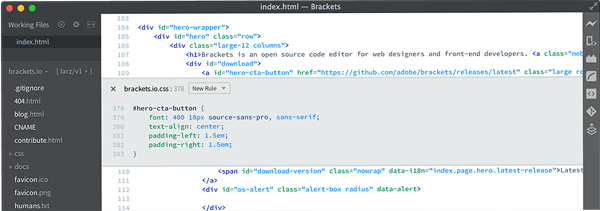 brackets best text editor for PC