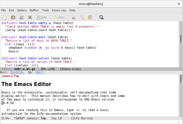 Emacs best text editor for PC