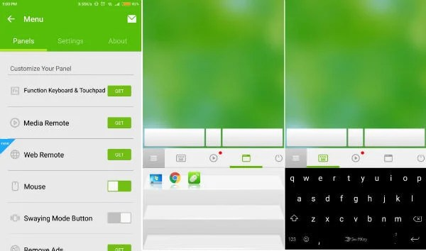 RemoteMouse Android for convert android into mouse and keyboard