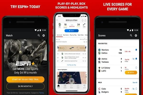 10 Best Sports App for Live Sports Score and Updates  | Mashtips