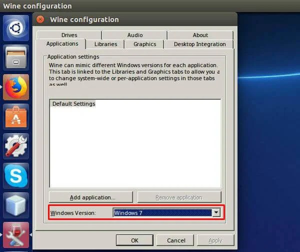 Configure Wine on Linux