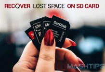 Recover Lost Space SD Card