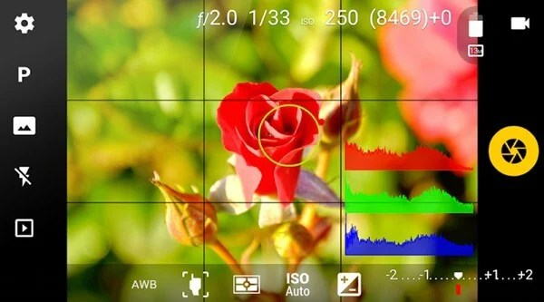 android camera fv-5 raw image editor