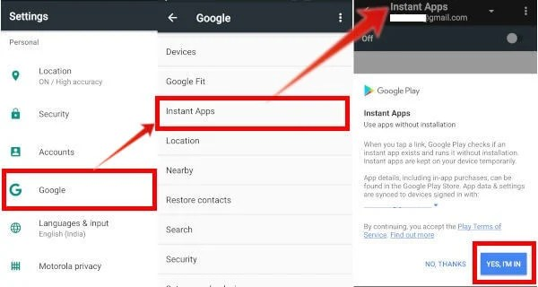 google play service for instant app