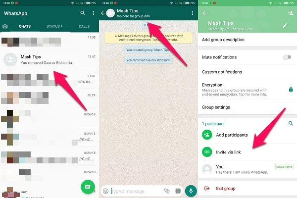 How to Create WhatsApp Group Invite Link and Share to add
