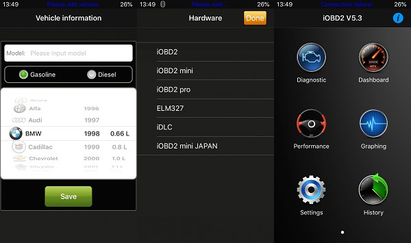 iphone iobd2 UI