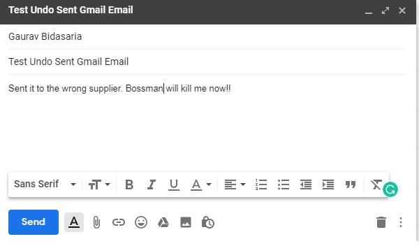 windows chrome gmail compose email
