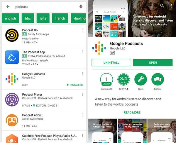 Download install Google Podcasts App