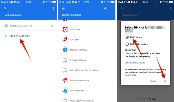 How to add bank account in Google Pay Tez 1