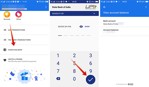 How to check balance in Google Pay Tez