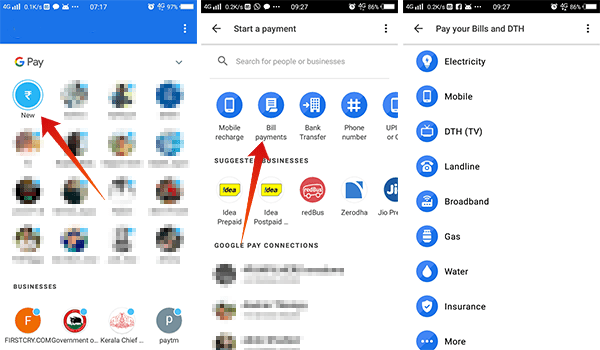 How to pay bills using Google Pay Tez