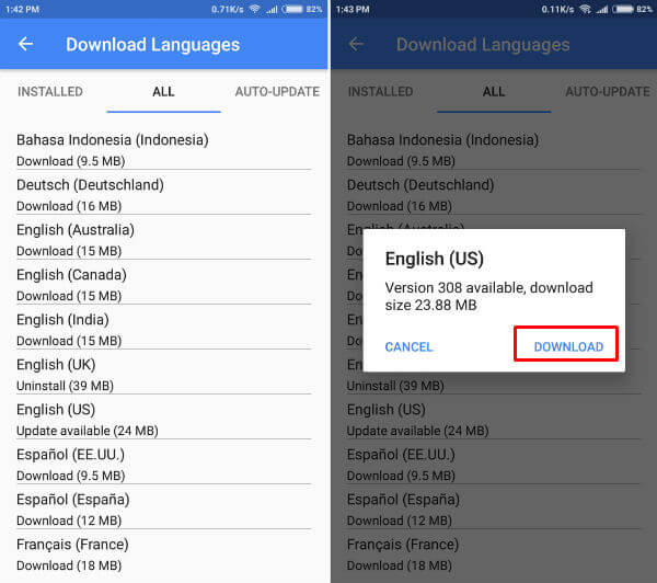 Offline Speech Language Download Android