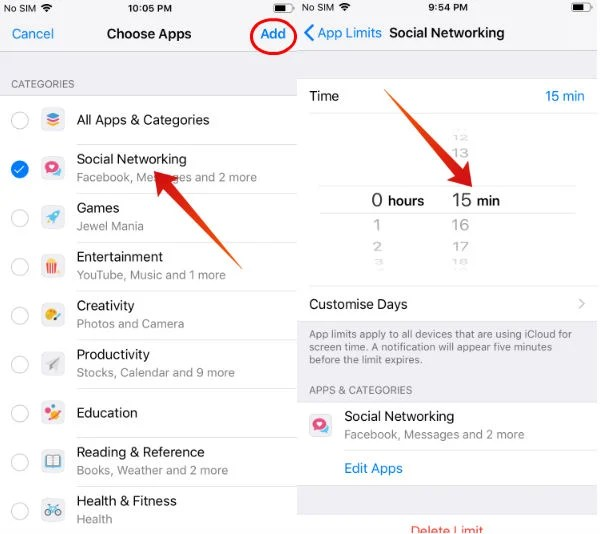 iPhone Set Limits for Social Networking