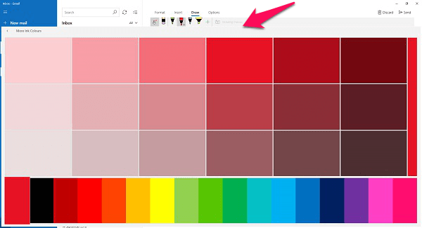 windows 10 mail pen color picker