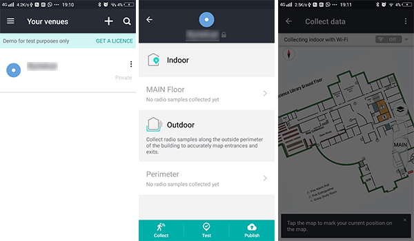 HERE Indoor Navigation Android app
