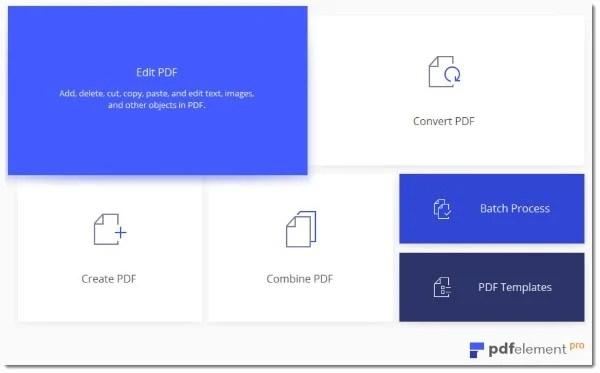 PDFelement 6 Pro PDF Editor Interface