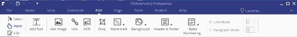 PDFelement 6 Pro PDF Editor Top Interface