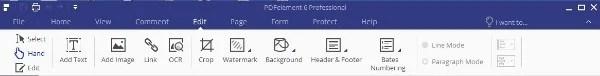 PDFelement 6 Pro PDF Editor Top Interface