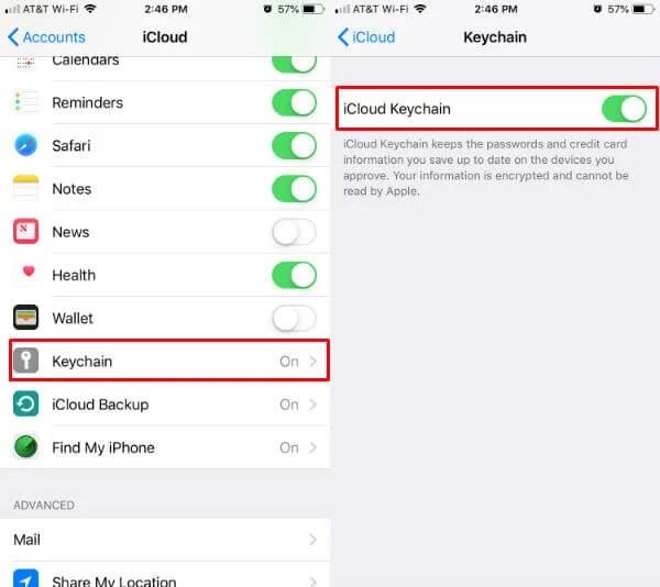 iOS iCloud Keychain On