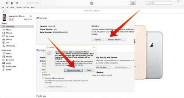 iPhone restore itunes