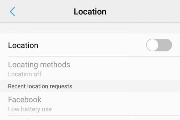 Android Turn off Location