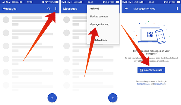 How to connect Android Messages Web to Text from your laptop
