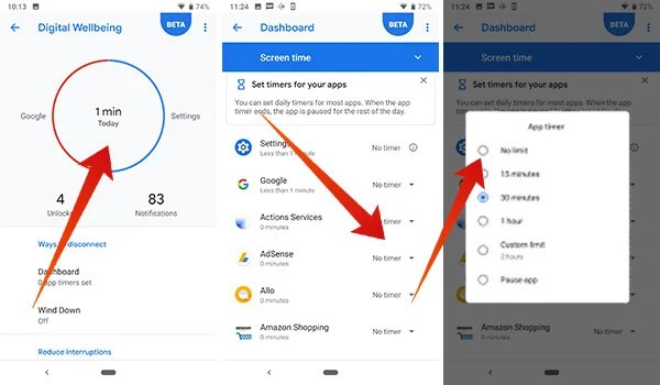 How to disable or reset app timer in Digital Wellbeing