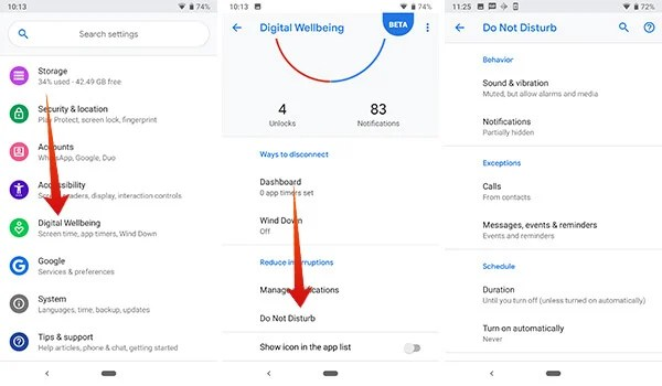 How to use Do Not Disturb in Digital Wellbeing
